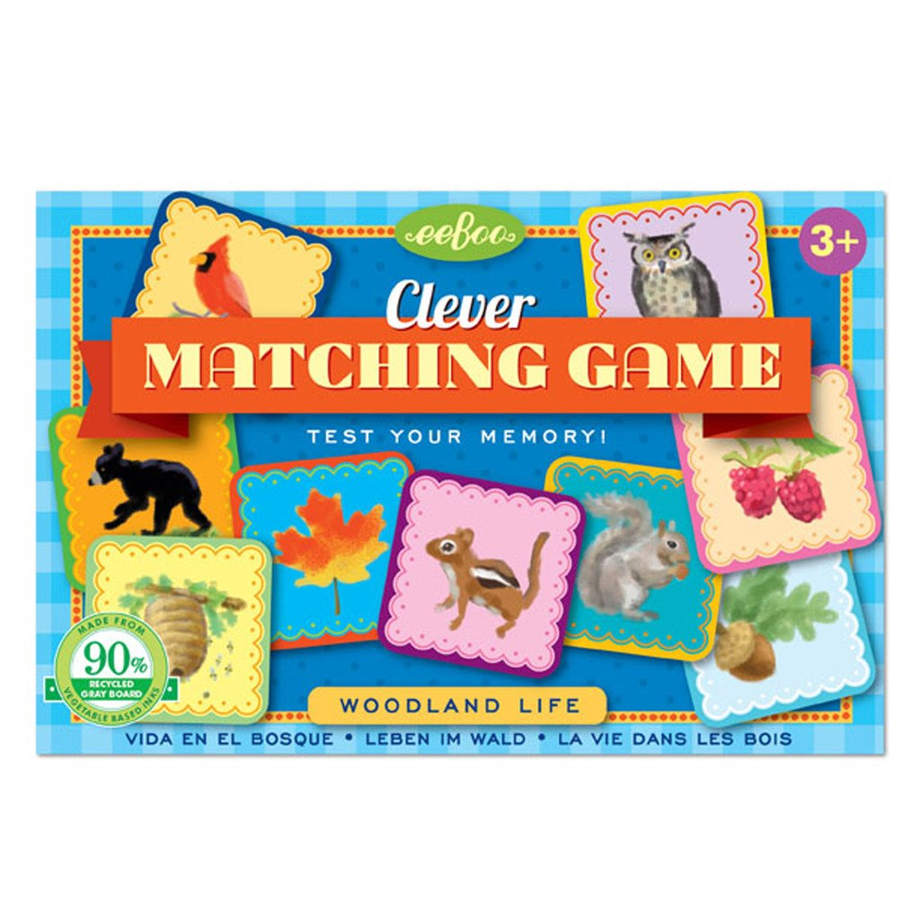 eeBoo Wooldand Life Clever Memory Matching Game, Road Trip Travel Game for kids