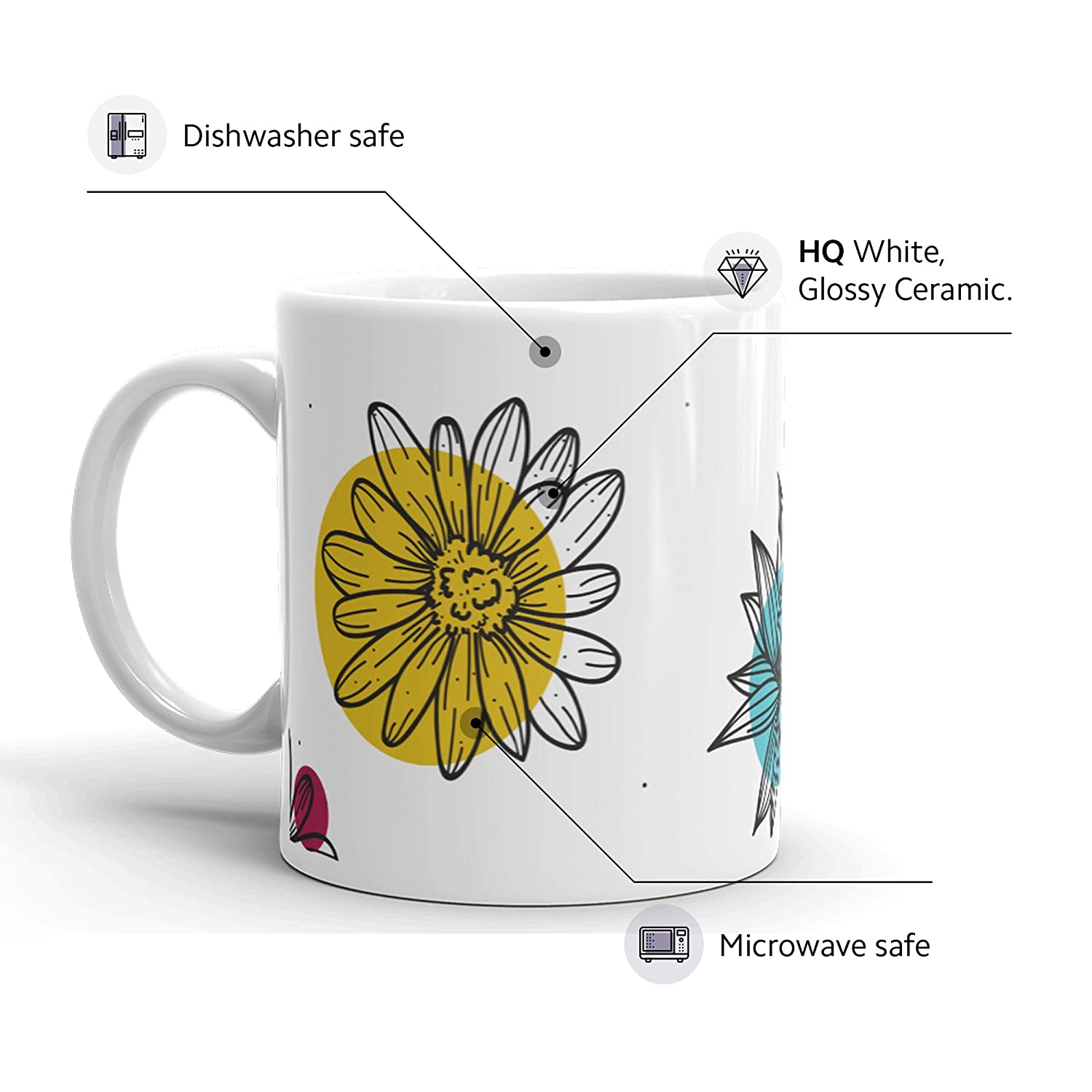 Amazon Flowers Funny Coffee Mug Unique Novelty Ceramic Cup With
