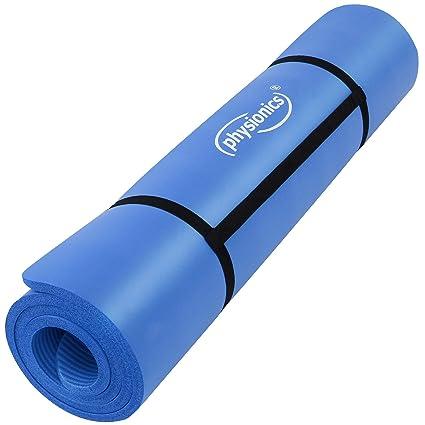 Physionics Pilates Gymnastikmatte Fitnessmatte Bodenmatte Yogamatte in der Größe 180 x 60 cm x 1,5 cm oder 190 x 100 x 1,5 cm