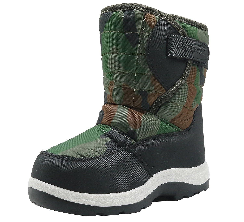 Apakowa Kids Boys Winter Snow Boots (Toddler/Little Kid) None H8325