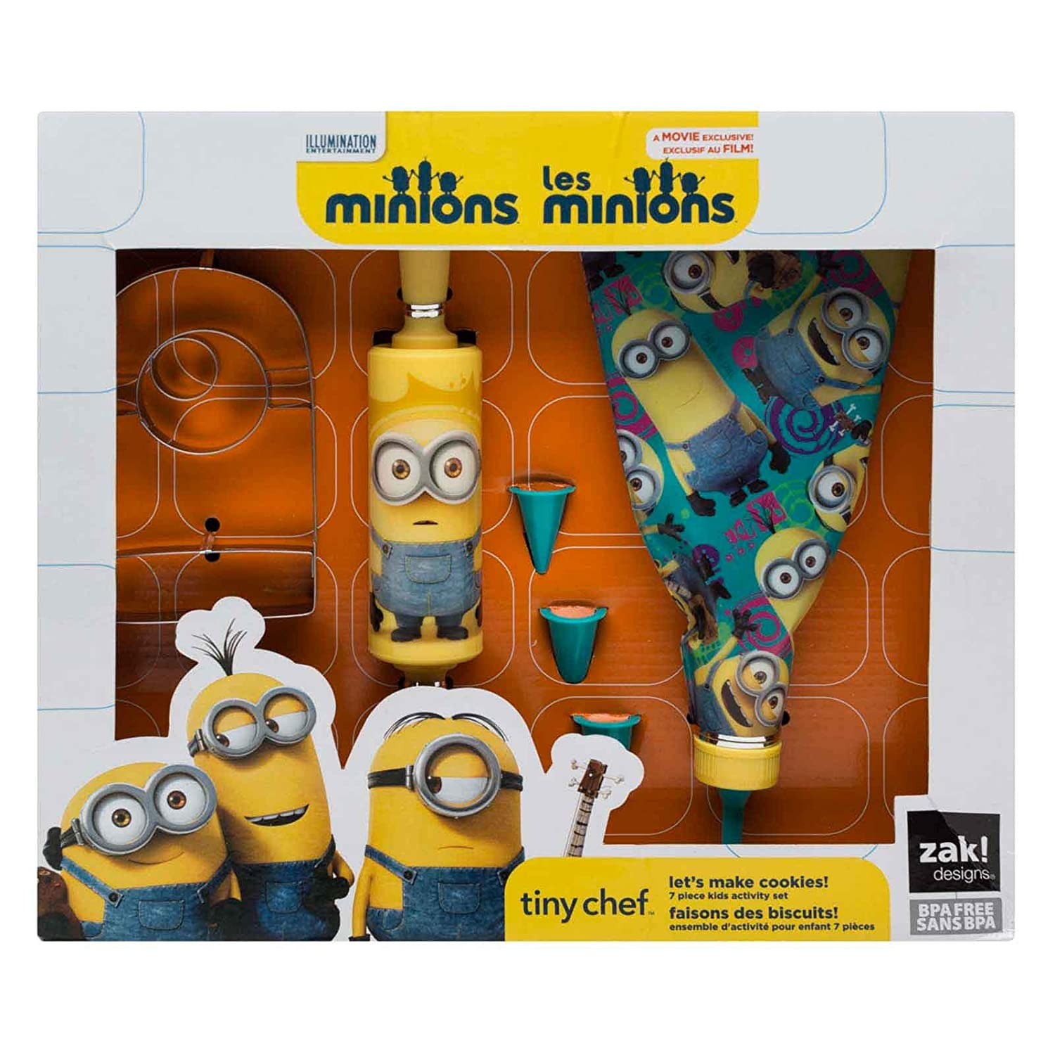Minions Tiny Chef - Let's Make Cookies! Baking Set for Kids by Zak Designs DESS-R220-KO