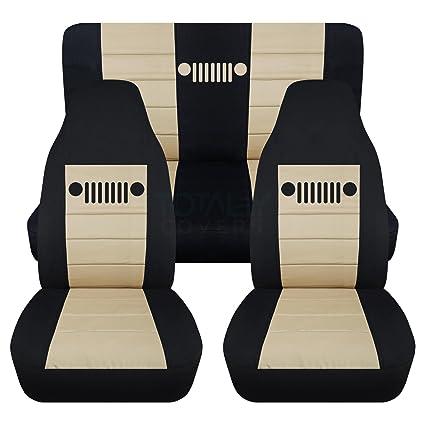 Magnificent 1997 2006 Jeep Wrangler Tj Seat Covers Black Sand Full Set Front Rear 23 Colors 1998 1999 2000 2001 2002 2003 2004 2005 2 Door Complete Back Machost Co Dining Chair Design Ideas Machostcouk