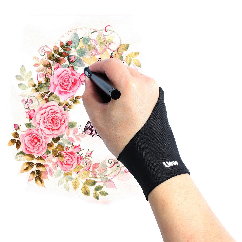 Amazon Com Artist Glove Litup Free Size Anti Fouling Drawing Glove