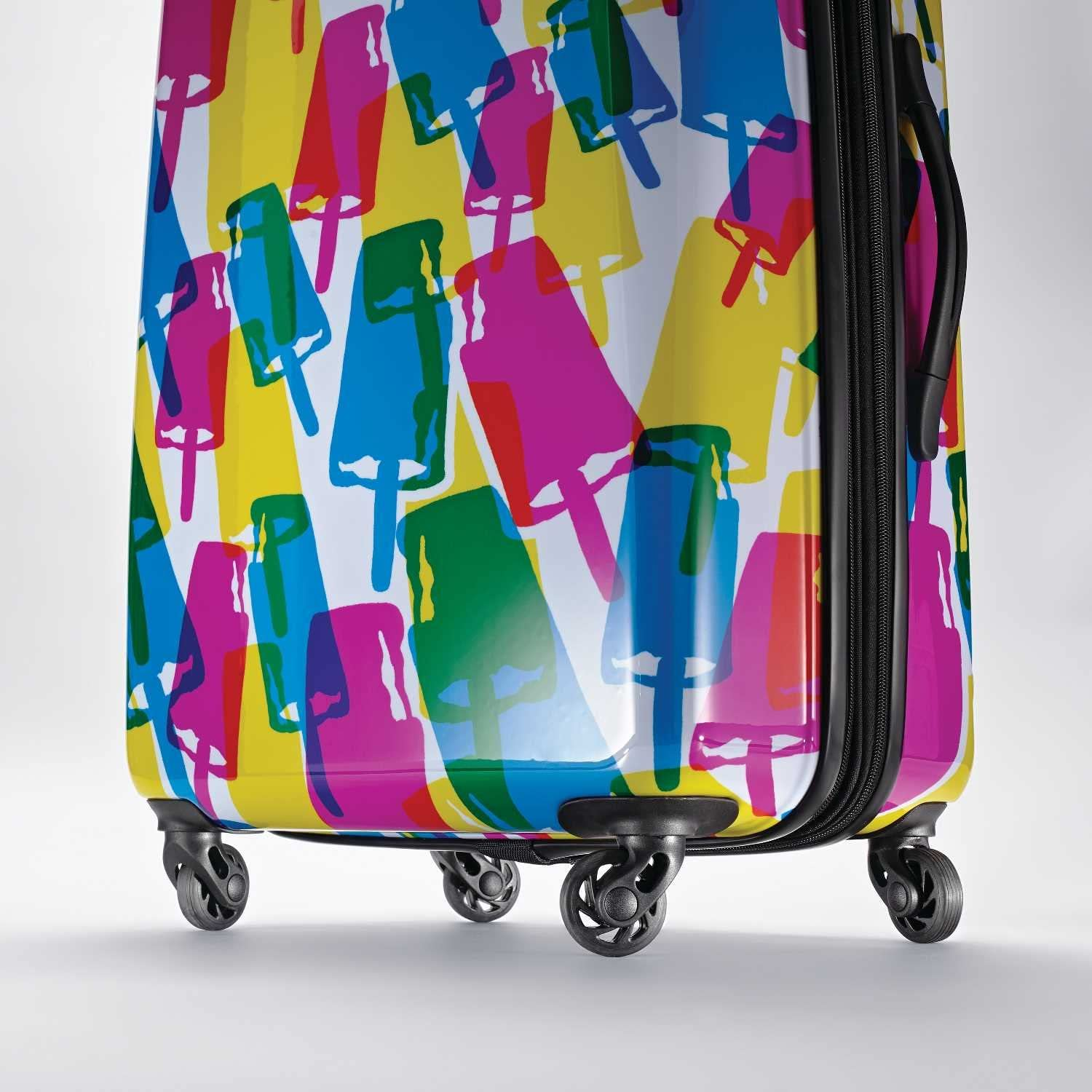 American Tourister Moonlight Hardside Expandable Luggage with Spinner Wheels Palm Trees