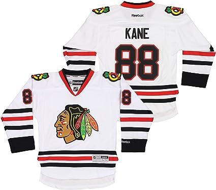 Youth Kids Chicago Blackhawks Patrick Kane 88 White Stitched Authentic NHL Jersey Reebok (Small/Medium)