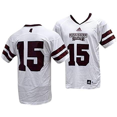 adidas Mississippi State Bulldogs NCAA Mens 15 Replica Jersey White  (XX-Large) a37676fa5423