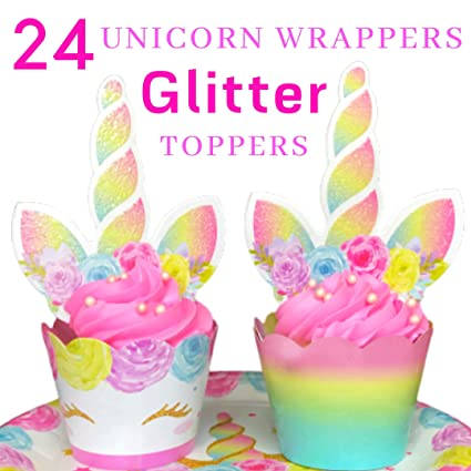 Decoraciones de unicornio para cupcakes y envoltorios ...