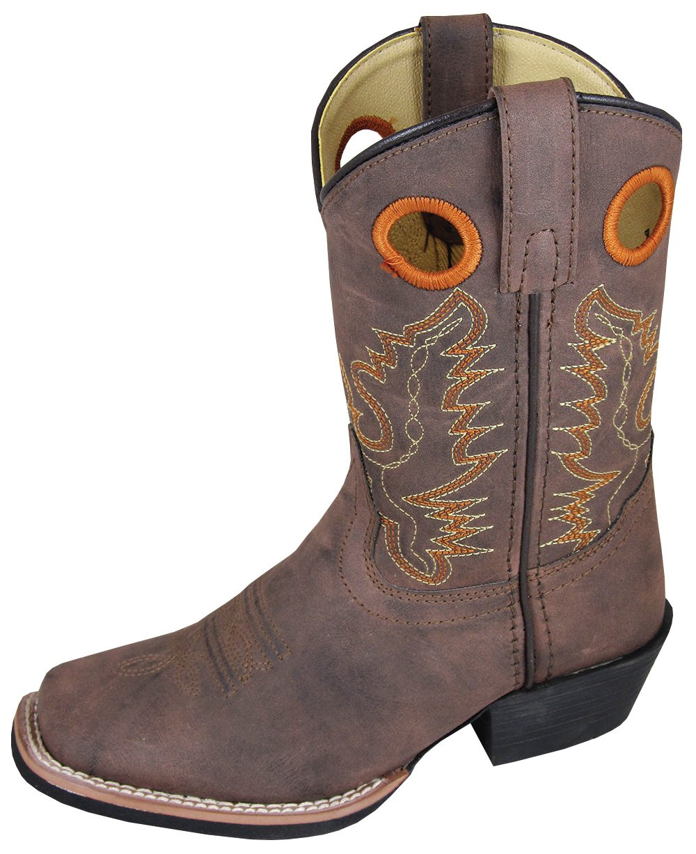 Smoky Mountain Childs Memphis Sq Toe Boot Brown Distress