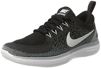 b893403caf1f Nike Women s Free Rn Distance 2 Black White Cool Grey Running Shoe Size 5