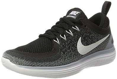 ef199eb0c61e Nike Women s Free Rn Distance 2 Black White Cool Grey Running Shoe Size 5