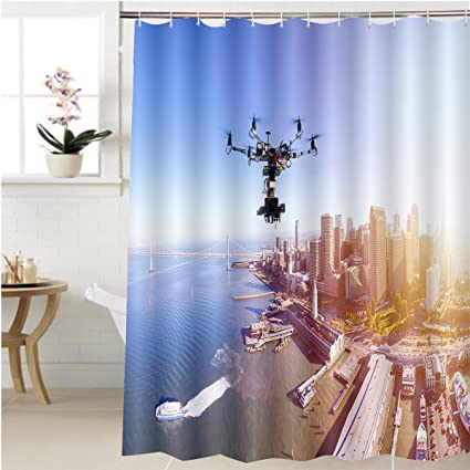 Amazon.com: Gzhihine Shower curtain professional photography drone ...