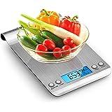 himaly Báscula Digital para Cocina de Acero Inoxidable, 5KG/11 LB, Báscula Balanzas de Alta Precisión Balanza de…