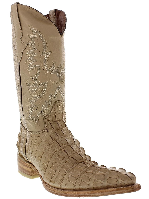 ff2de49c4da Amazon.com | Hand Made Men's Crocodile Alligator Tail Cut Leather ...