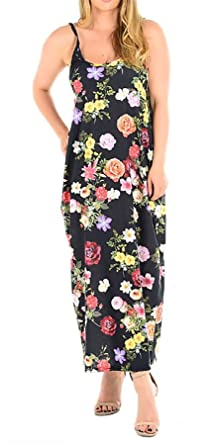 e34e265df11 Islander Fashions Womens Lagenlook Cami Printed Romper Maxi Ladies Fancy  Strappy Floral Dress S XXL UK 8-22  Amazon.co.uk  Clothing