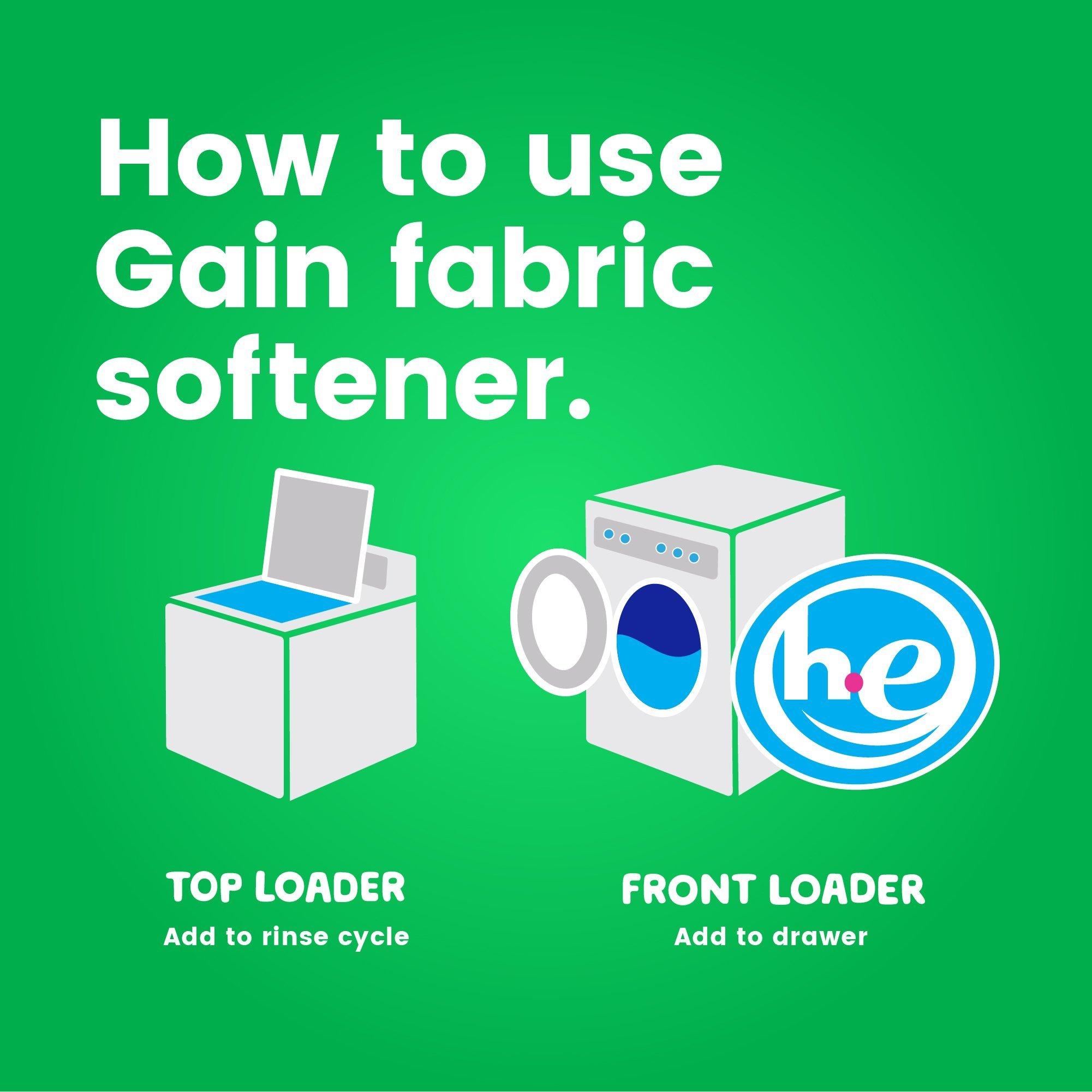 Gain Liquid Fabric Softener, Original, 41 fl oz, 4 Count by Gain (Image #4)
