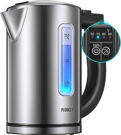 Hervidor Eléctrico de Agua con Termostato Ajustable, 2200W