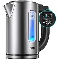 PHONECT Elektrische waterkoker met 2200 W snel koken, led met variabele temperatuurregeling, automatische uitschakeling…