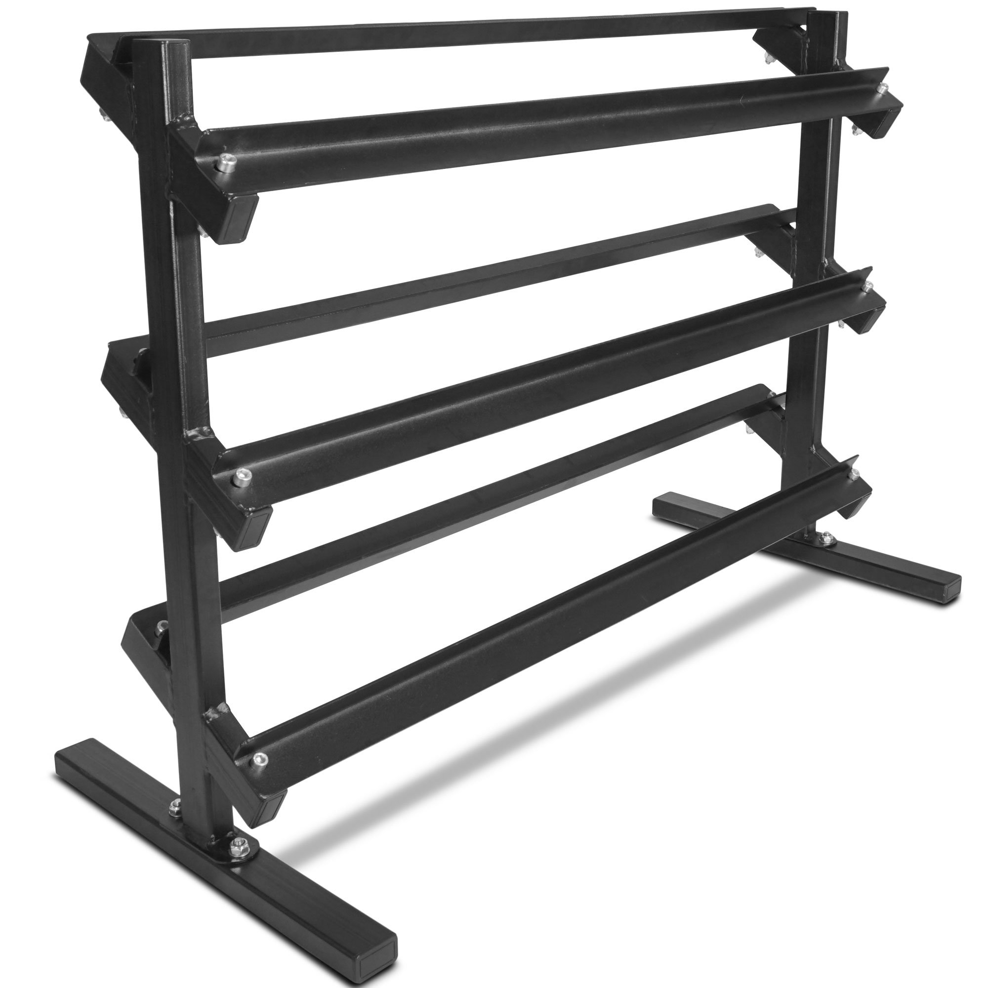 Titan Fitness 3 Tier Dumbbell Rack HD Stand for Workout Weights