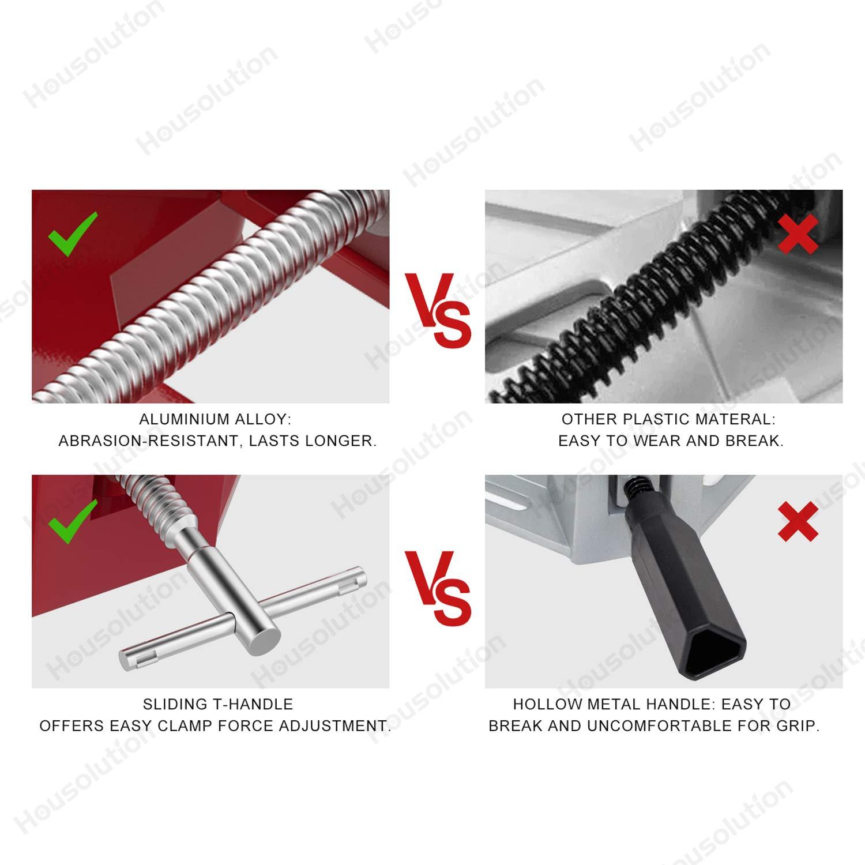 Argent Gris pince /à pince /à angle droit Pince /à souder d/étau en aluminium avec poign/ée ajustable Housolution Pince /à angle droit,Pince dangle en alliage daluminium /à 90/°