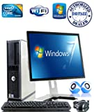 "Windows 7 - Dell OptiPlex Computer Tower with Dell 17"" LCD TFT Flat Panel Monitor - Powerful Intel Core 2 Duo Processor - 250GB Hard Drive - 4GB RAM - WiFi - Keyboard and Mouse - External Speakers"