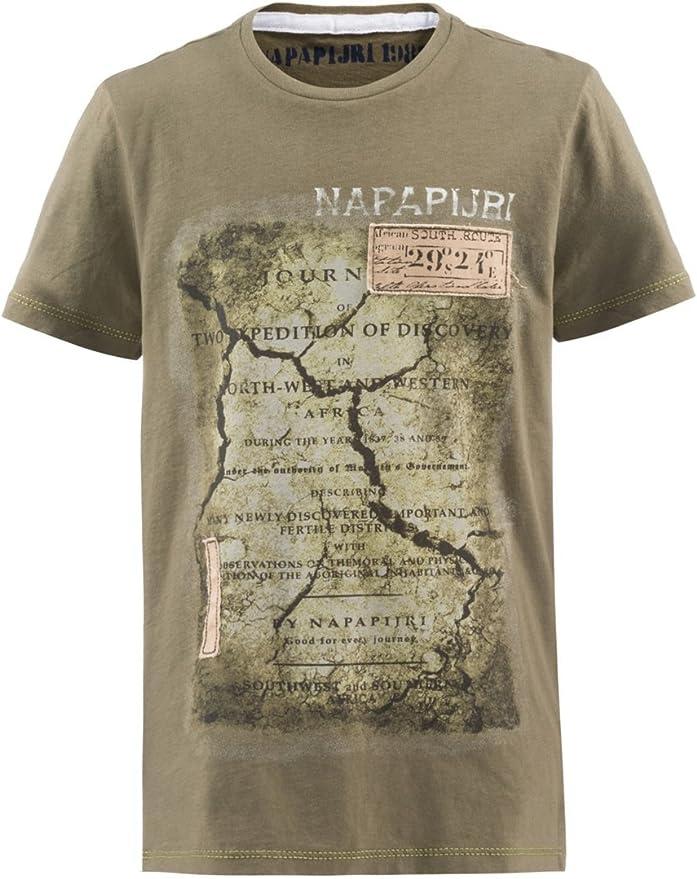 Napapijri - Camiseta de manga corta - para niño verde oliva 6 años: Amazon.es: Ropa y accesorios
