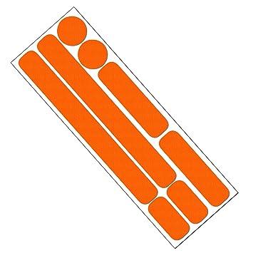Reflektor Aufkleber Set Für Fahrrad Helm Anhänger Oder Laufrad Reflektierende Aufkleber Orange