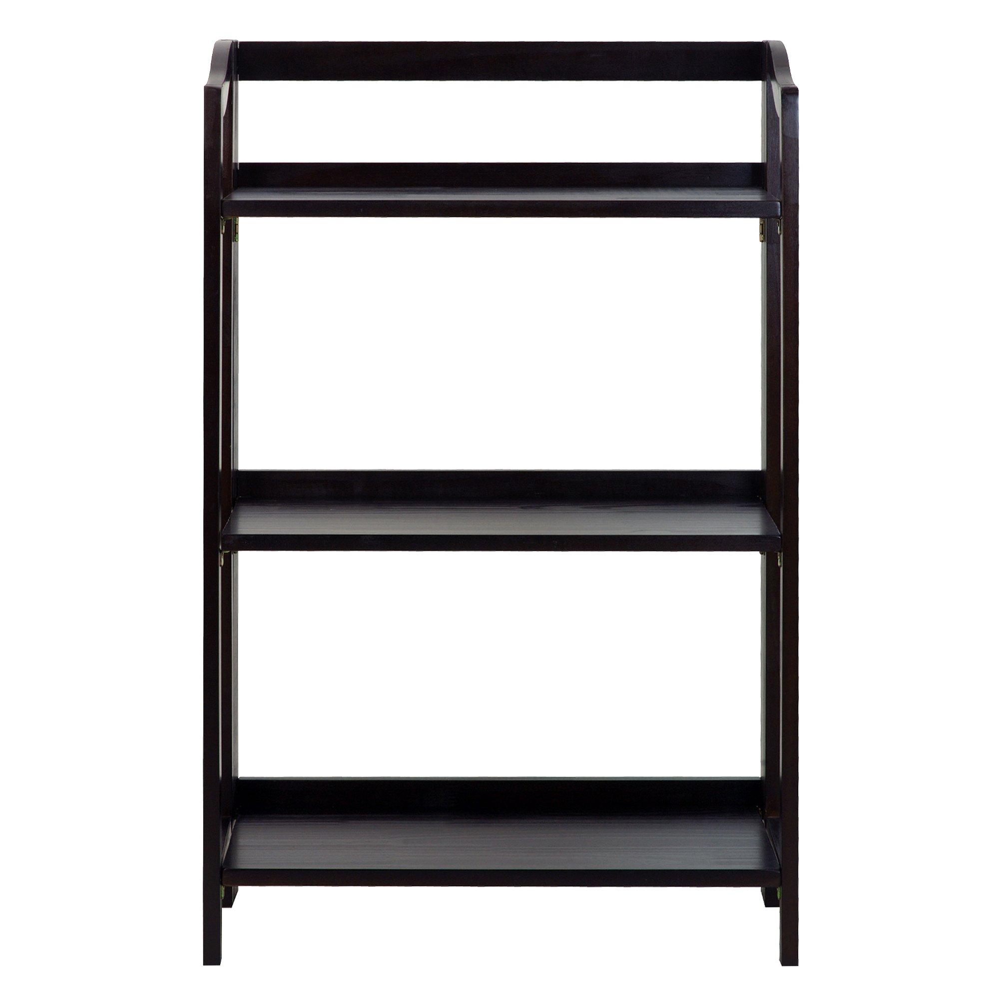 Casual Home 337-33 Stratford 3-Shelf Folding Bookcase-Espresso