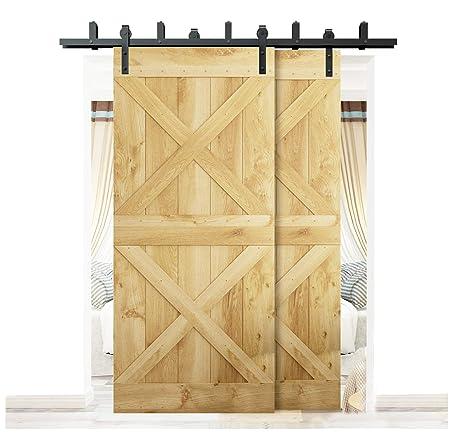 Amazon Diyhd 55ft Bypass Sliding Barn Wood Door Hardware