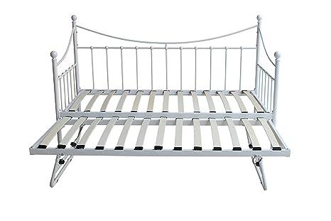 Nuevo DuraTribe Metal forma de formar un colchón para invitados con marco de bajo-cama nido y 2 colchones ...