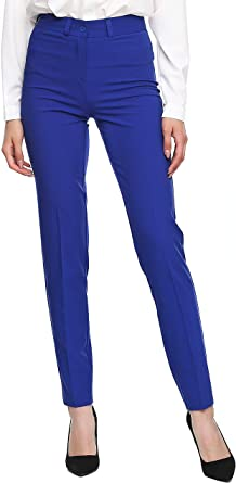 Amazon Com Ladylike Pantalones De Vestir Para Mujer Cintura Alta Clothing