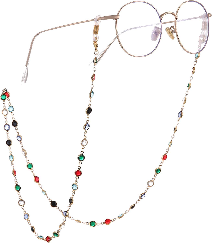 fishhook Delicate Eyeglasses Holder Chain Sunglasses Reading Glasses Strap Holder Open Sweet Heart Chain Keeper Lanyard for Women Men Girls Grandma