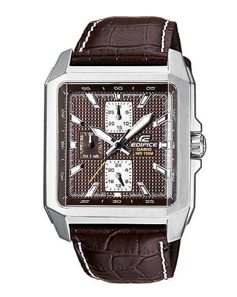 Reloj Caballero Casio De CuarzoCorrea Luz Piel 5avef 333l Ef Marróncon Color Edifice 3A54LjR