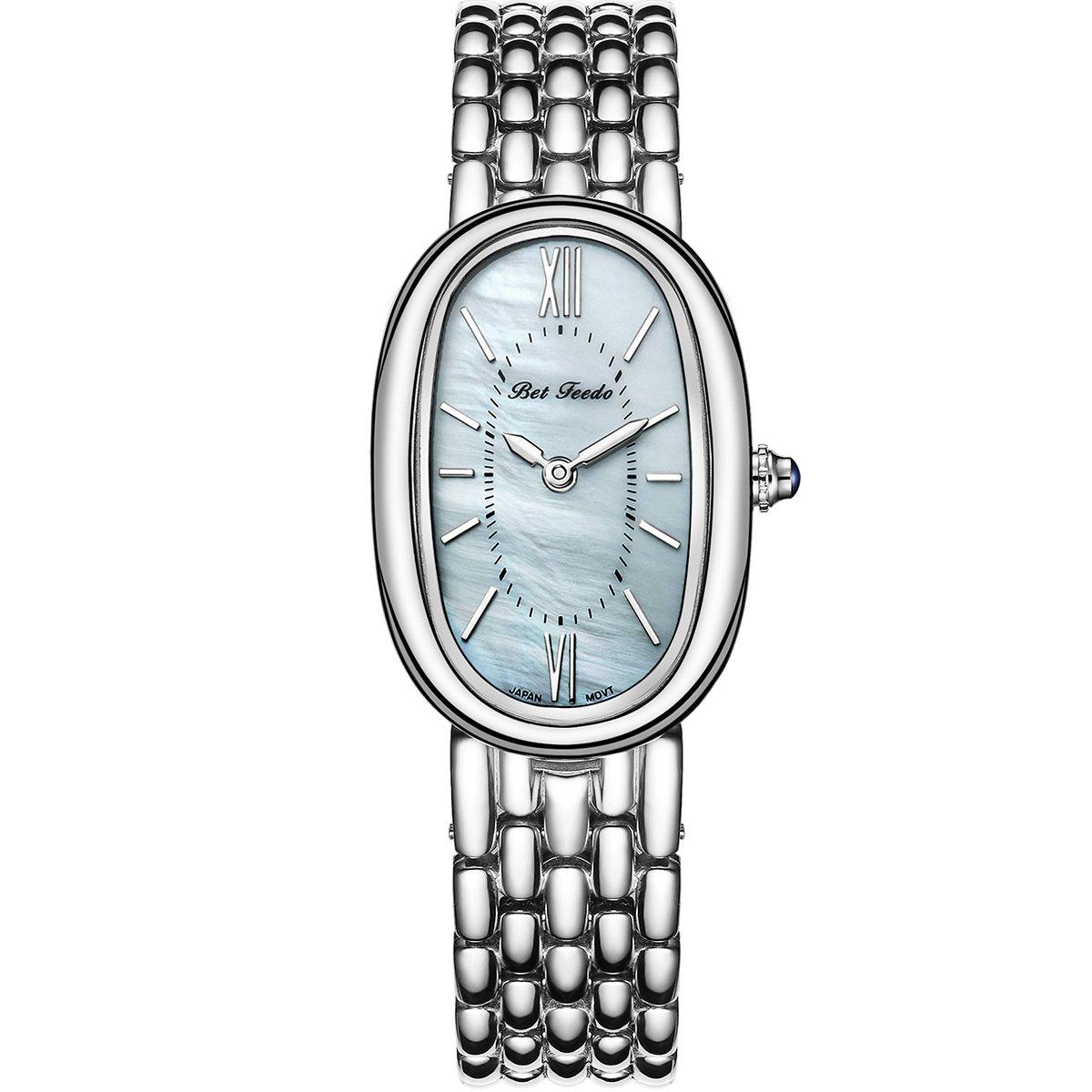Wrist Watch for Women, Rosegold Fashion Dress Quartz Watch, BETFEEDO Waterproof Analog Watch (White)