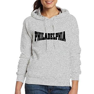 quality design 95d98 b9448 Women's Long Sleeve Cotton Hoodie Philadelphia Sweatshirt at ...