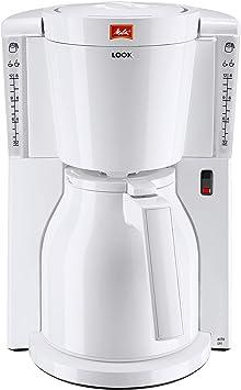Melitta Look Therm IV - Cafetera de goteo, 1000 W, color blanco: Amazon.es: Hogar