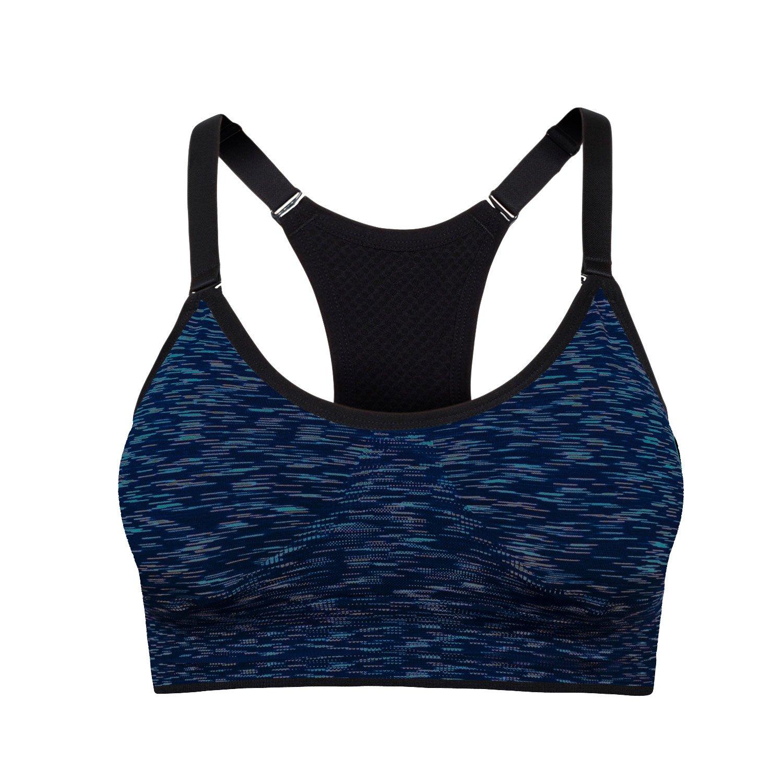 Cindeyar Damen Sport BH Yoga Fitness BH Stretch Sports Bra Ohne Bügel Starker Halt Nahtloser Bustier BH LJ4049