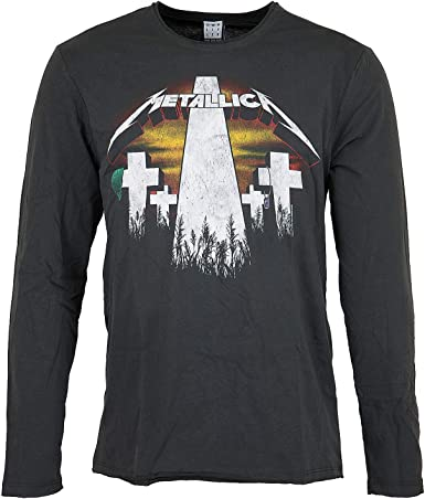 Amplified Metallica Master of Puppets - Camiseta de Manga Larga: Amazon.es: Ropa y accesorios