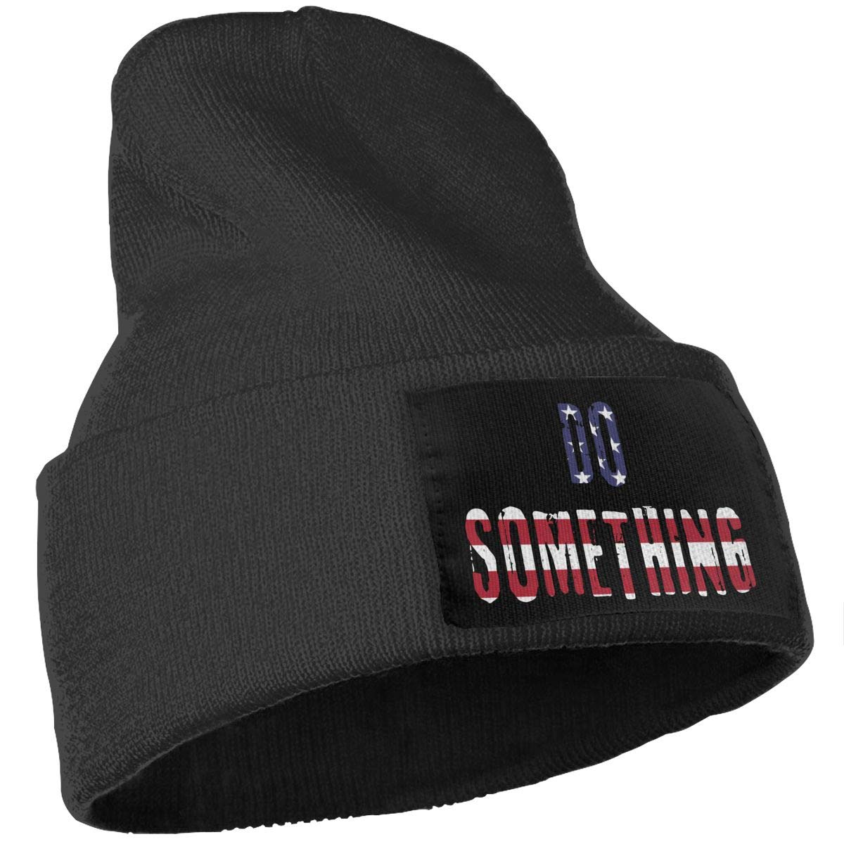 COLLJL-8 Men /& Women DO Something American Flag Outdoor Fashion Knit Beanies Hat Soft Winter Knit Caps