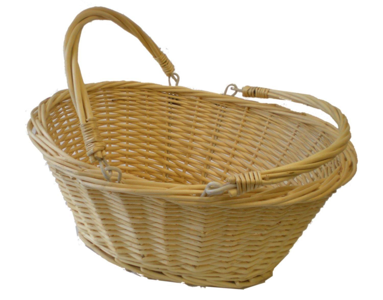 Ovale bianca in vimini cestino per la spesa