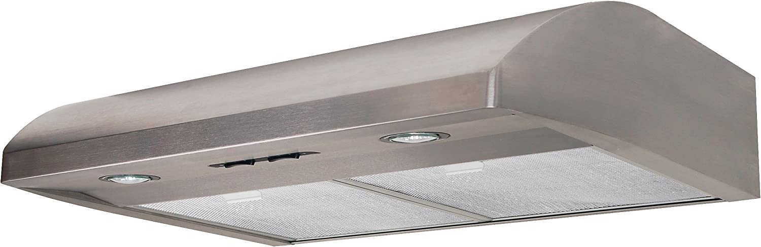 Air King AV1308 Advantage Convertible Under Cabinet Range Hood with 2-Speed Blower and 180-CFM Stainless Steel Finish 30-Inch Wide 7.0-Sones