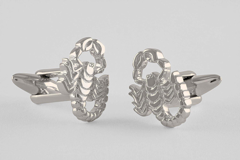 ZAUNICK Scorpio Cufflinks Zodiac Sterling Silver Handcrafted