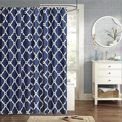 Merritt Shower Curtain Navy 72 X 96quot