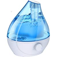 Homasy Cool Mist Humidifier, BPA-Free 22dB Quiet Humidifiers for Bedroom, Auto Shut Off, 24H Work Time, Air Humidifier…