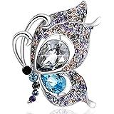 Plato H Regalo di Natale Gioielleria spilla di cristalli Swarovski farfalla gioielli spilla con la scatola per Lei