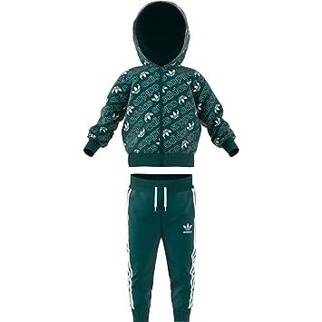 adidas I M TRF FZ Hood - Chándal, Bebé, Verde(VERNOB/Blanco ...