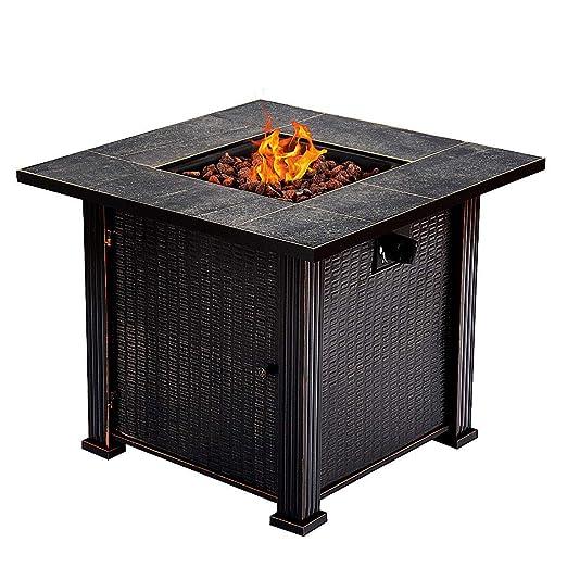 Amazon.com: Cubierta para chimenea de gas propano cuadrado ...