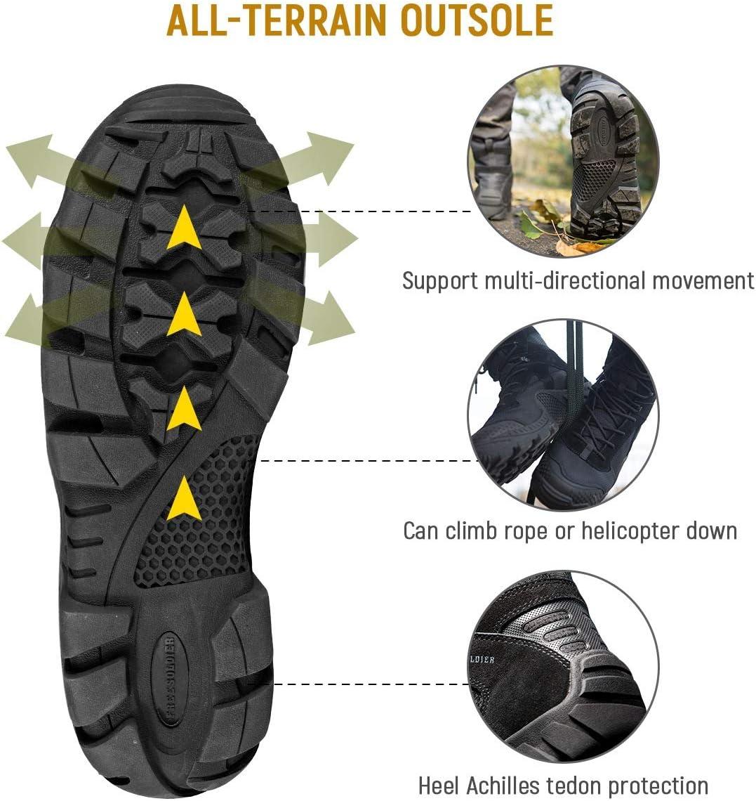 Armee Training Jagen Combat FREE SOLDIER Stiefel Herren Wanderstiefel Tactical Kampfstiefel Outdoor Military Boots M/änner Alles Gel/ände Schuhe zum Wandern Arbeiten