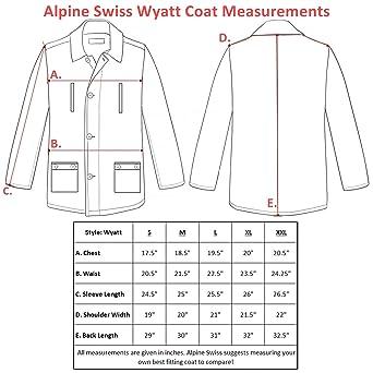 ad0bd2593d1 alpine swiss Wyatt Mens Classic Barn Coat at Amazon Men s Clothing store