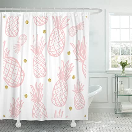 Amazon Com Tompop Shower Curtain Pineapple Vintage For Your