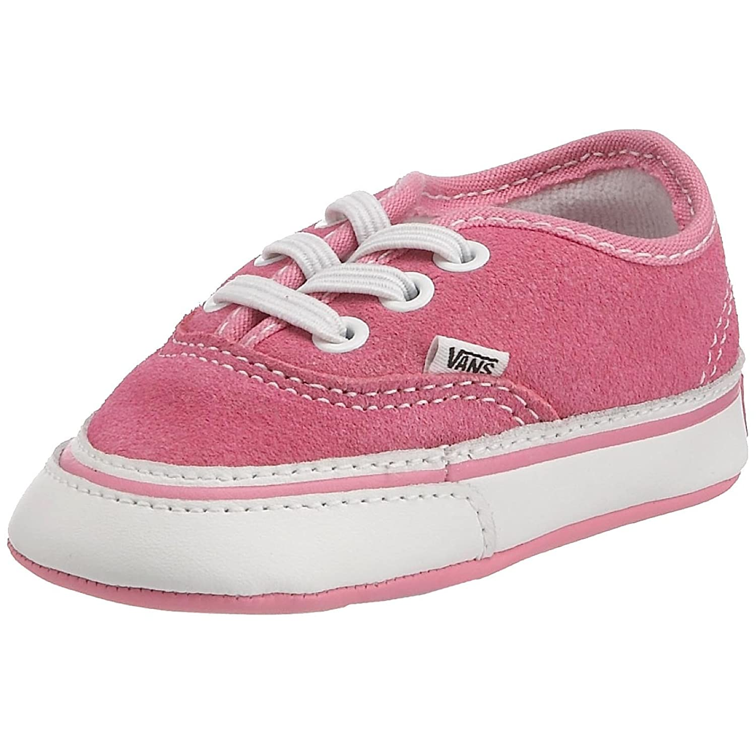 Vans Authentic Uni Childs Low Top Trainers Pink White 3 5 UK